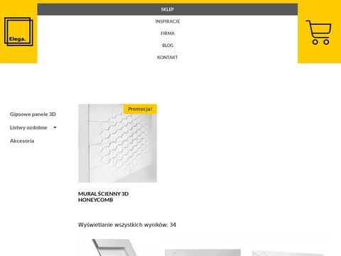 Elega.pl trójwymiarowe panele do salonu