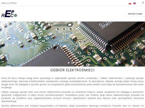 Epreco.pl - punkty zbiórki elektrośmieci