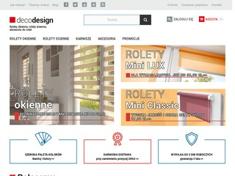 Decodesign.com.pl rolety na wymiar