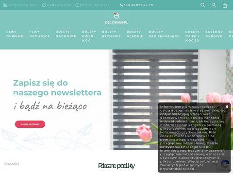 Decoman.pl rolety materiałowe na wymiar