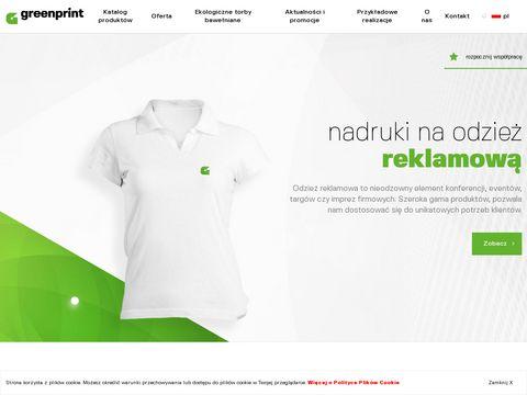 Greenprint koszulki z nadrukiem