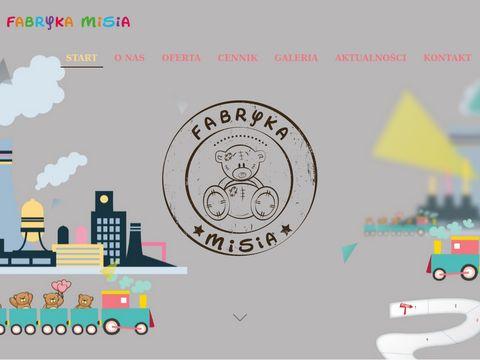 Fabrykamisia.pl centrum rozrywki dla dzieci