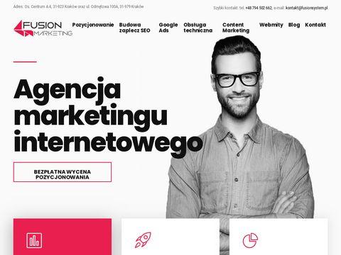Fusionsystem.pl content marketing sieć reklamowa