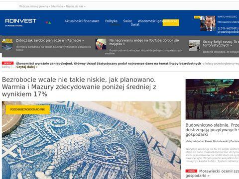 Adinvest.com.pl wiadomości ekonomiczne