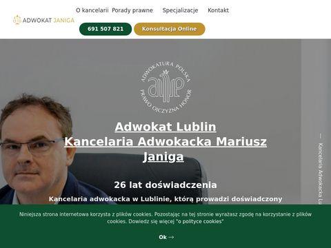 Adwokatjaniga.pl lubelska kancelaria adwokacka