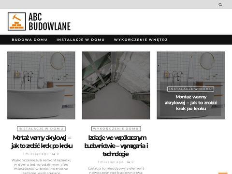 Abcbudowlane.pl portal