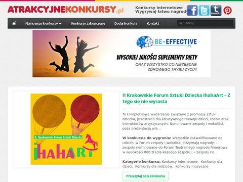 Atrakcyjnekonkursy.pl - aktualne konkursy