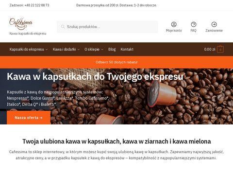Cafessima.pl kapsułki z kawą
