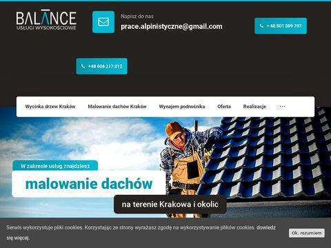 Balance.net.pl wycinka drzew Kraków