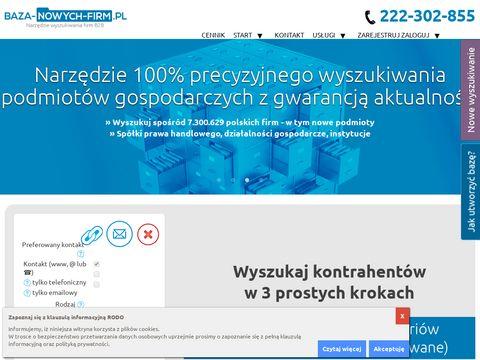 Baza-nowych-firm.pl klientów biznesowych