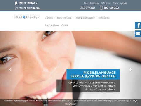 Mobilelanguage.pl korepetycje z niemieckiego