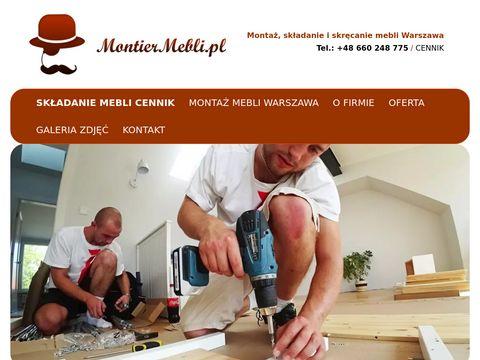 Montiermebli.pl montaż Warszawa