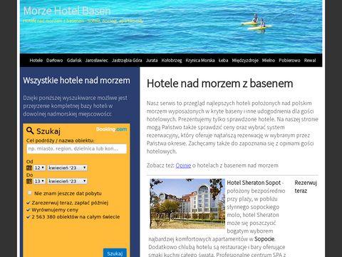 Morze-hotel-basen.pl noclegi nad morzem z basenem