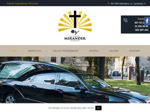 Mirander.com.pl zakład pogrzebowy Katowice