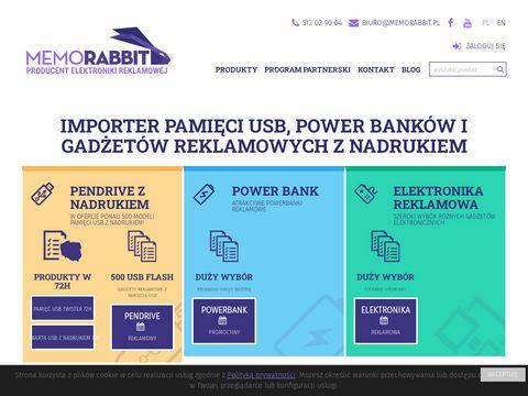 Memorabbit.pl pendrivy z nadrukiem logo dla firm