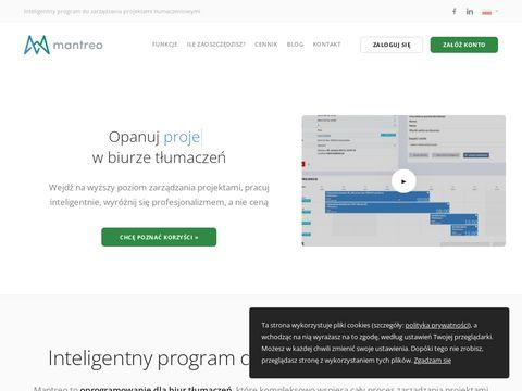 Mantreo.com oprogramowanie dla biur tłumaczeń