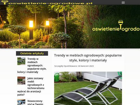 Oswietlenie-ogrodowe.pl kinkiet ogrodowy