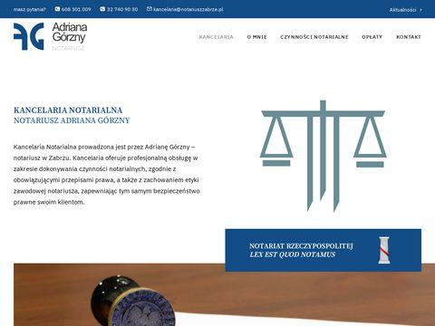 Notariuszzabrze.pl kancelaria notarialna
