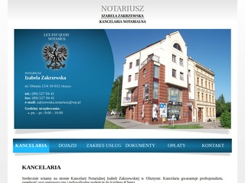 Izabelazakrzewska.notariusz.pl Olsztyn