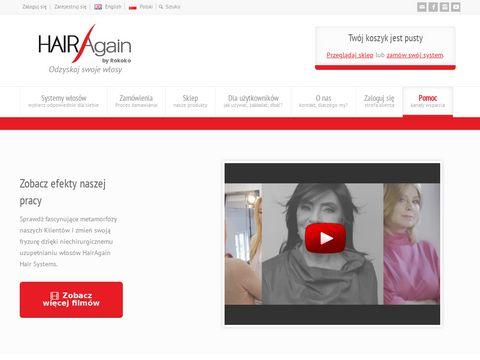 Hairagain.com.pl zagęszczanie włosów