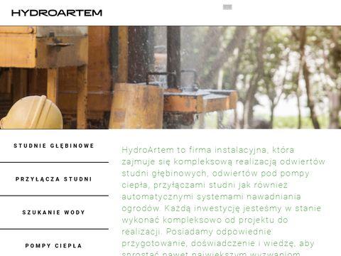 hydroartem.pl usługi minikoparką