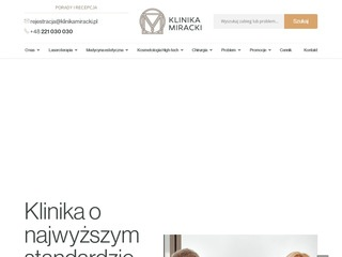 Klinikamiracki.pl chirurgia plastyczna Warszawa
