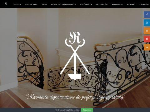 Kowal-rokoko.pl balustrady schodowe kute