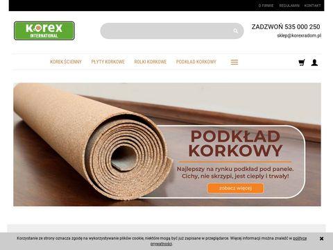 Korexradom.pl podkład korkowy