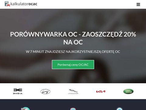 Kalkulator-oc-ac.auto.pl porównanie ubezpieczeń