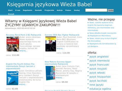 Wieża Babel księgarnia językowa