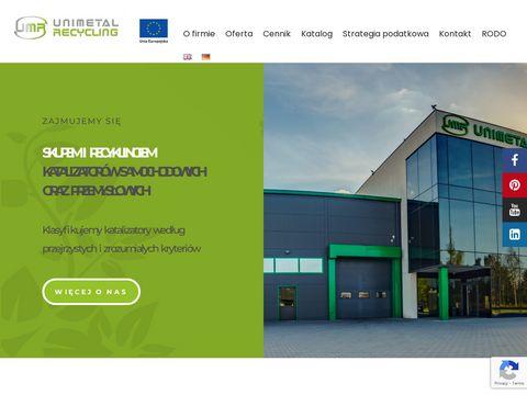 Unimetalrecycling.pl - skup katalizatorów
