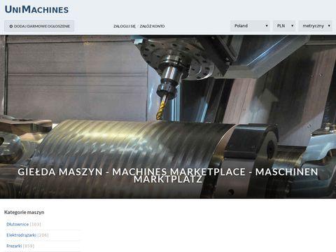 Unimachines.pl maszyny CNC