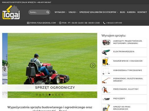 Togaj.pl - wynajem sprzętu budowlanego Śląsk