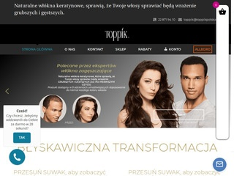 Toppikpolska.pl zamiast przeszczepu włosów