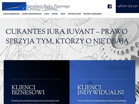 Tczerwiec.pl obsługa prawna Łódź