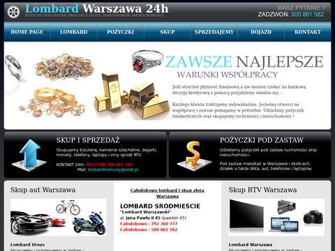 Lombard Mercury 24h - warszawski-lombard.pl