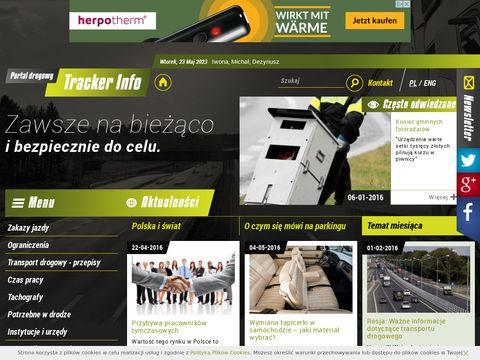 TrackerInfo - informacje dla kierowców