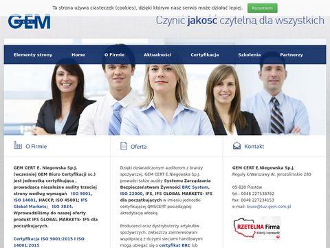 GEM CERT certyfikacja IATF 16949