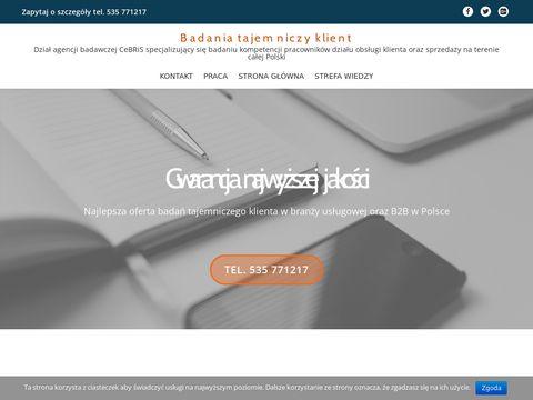 Tajemniczyklient.net badania