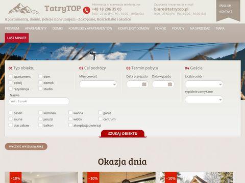 Tatrytop.pl rezydencje do wynajęcia w Zakopanem