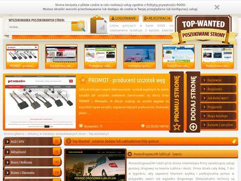 Top Wanted reklama w Internecie