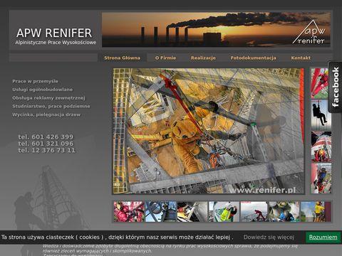 Alpinistyczne prace wysokościowe renifer