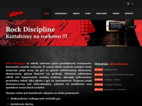 Rockdiscipline.com nauka gry na gitarze Warszawa