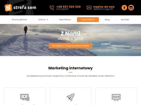 Strefasem.pl pozycjonowanie stron internetowych