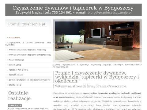Pranieczyszczenie.pl tapicerek i dywanów - Bydgoszcz