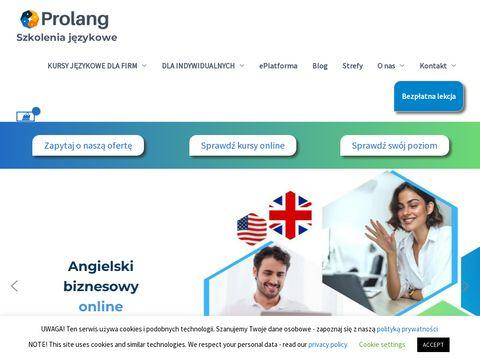 Prolang.pl szkoła językowa