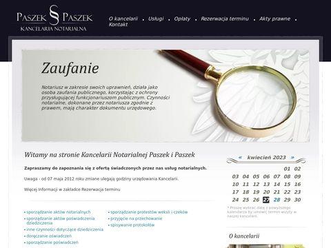 Paszek-paszek.pl notariusz Katowice