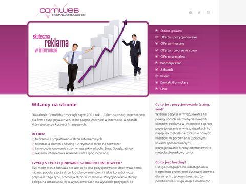 Pozycjonowaniecomweb.eu reklamy internetowe