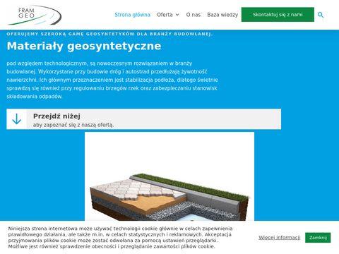 Fram-geo.pl stabilizacja podłoża mata antyerozyjna