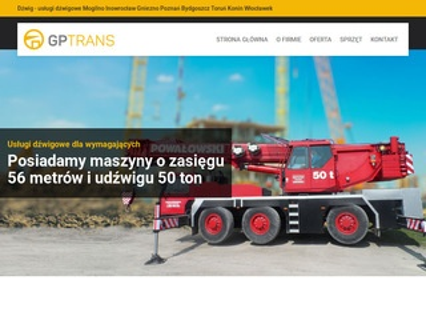 Gptrans.com.pl usługi dźwigowe koparko-ładowarką